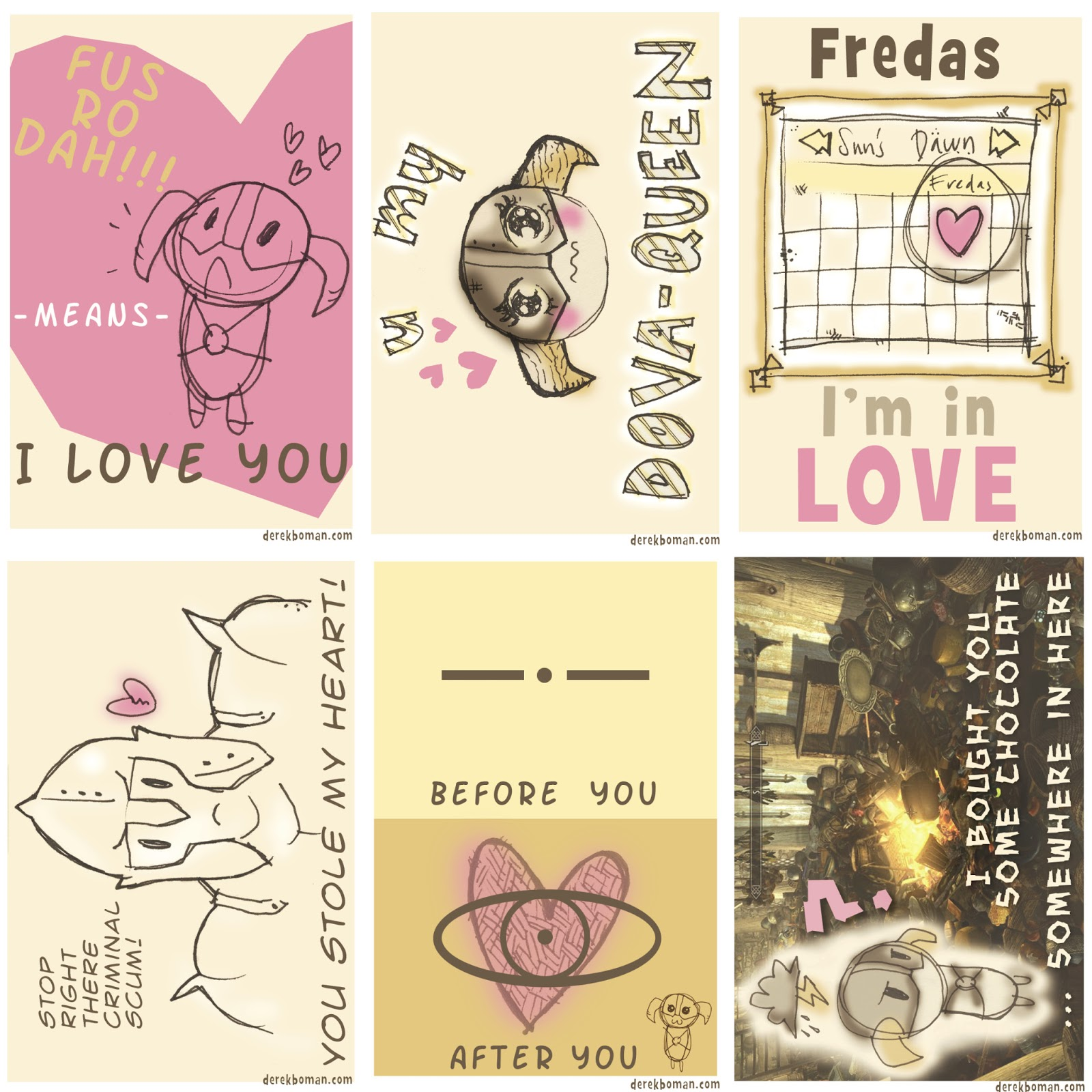The Fountain Skyrim Valentines Cards – Skyrim Valentines Card