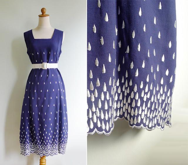 vintage rain drop dress