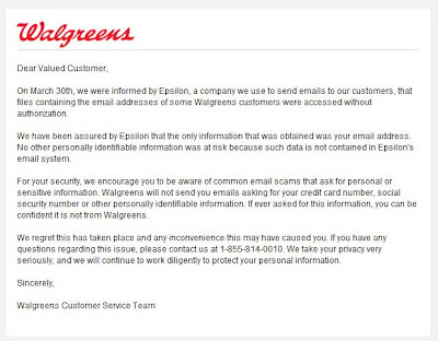Click to view this Apr. 4, 2011 Walgreens email full-sized