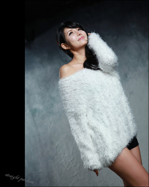 5 Cha Sun Hwa in Fluffy White-Very cute asian girl - girlcute4u.blogspot.com