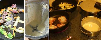 Zubereitung Waller mit Fenchel, Süßkartoffeln und Weißweinsauce