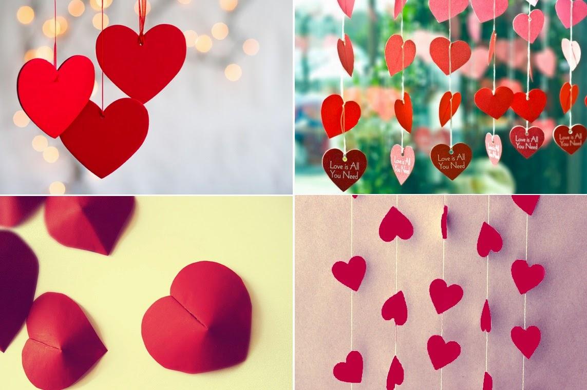 Simples e Barata para o Dia dos Namorados (Corações de Papel