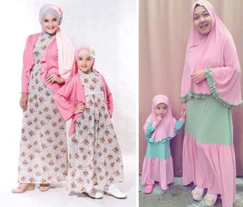 Model busana muslim Ibu dan Anak Perempuan 2018