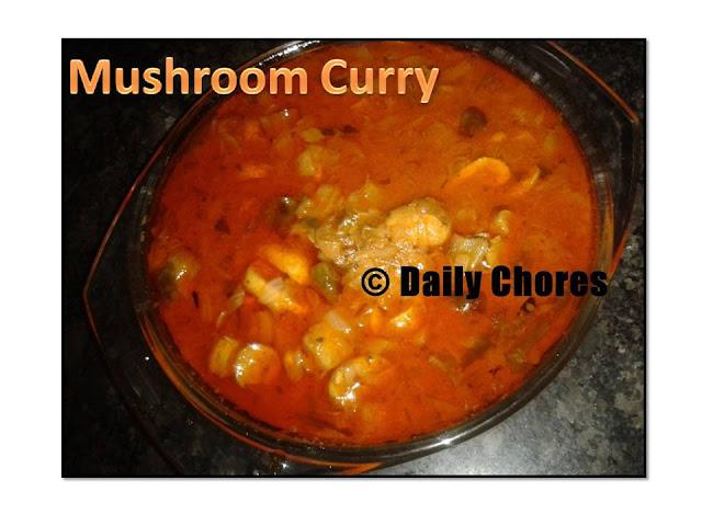 Mushroom curry- Kerala Style
