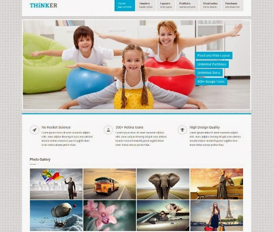 Thinker Retina Responsive Multipurpose WP Theme