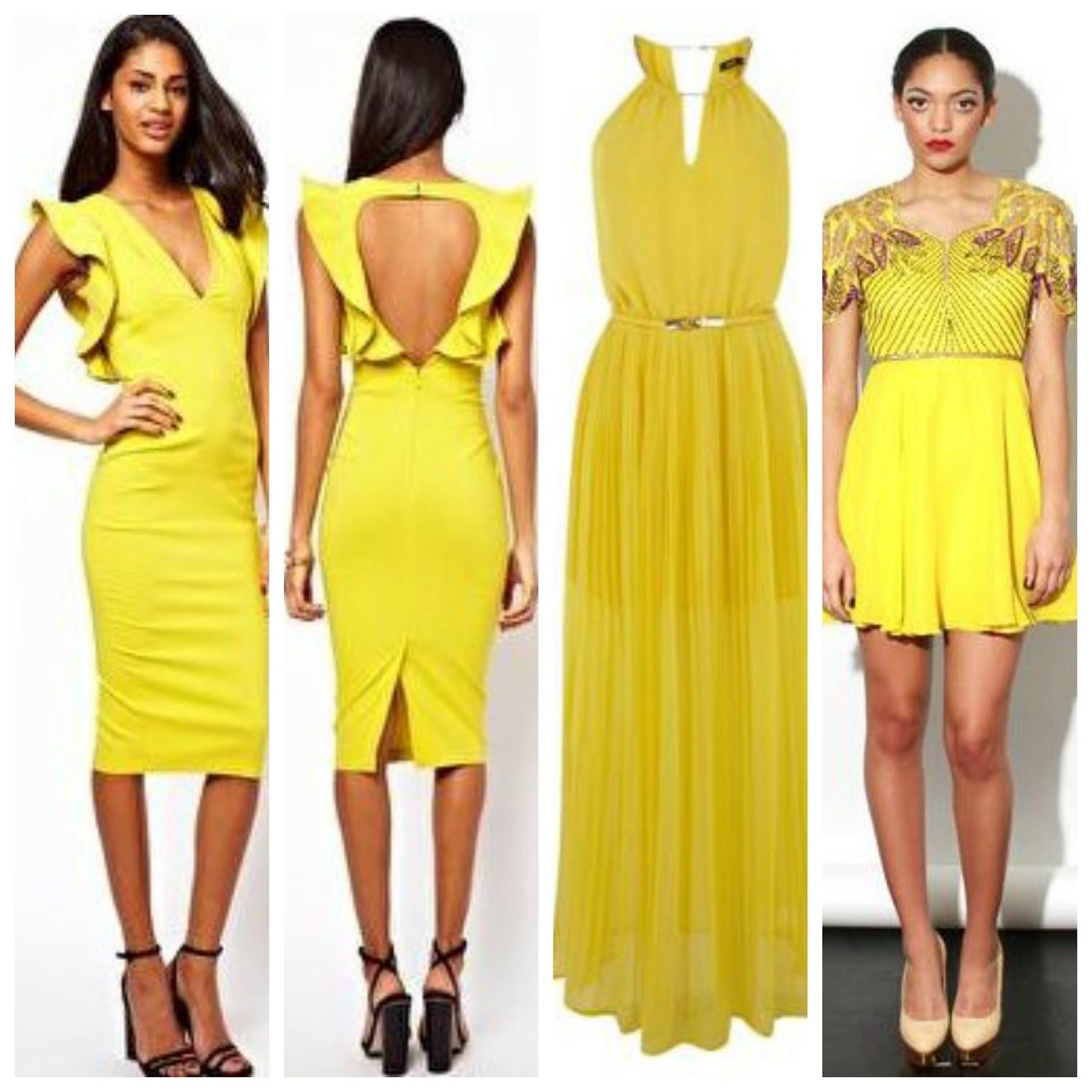 Yellow Summer Dresses For Weddings