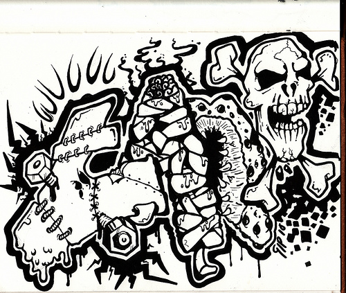 Free Images Buzz 3d Graffiti Sketches