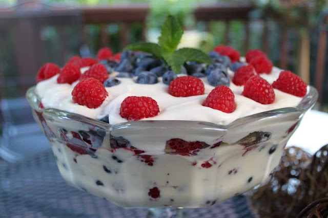Red, White and Blueberry Trifle | The Café Sucre Farine