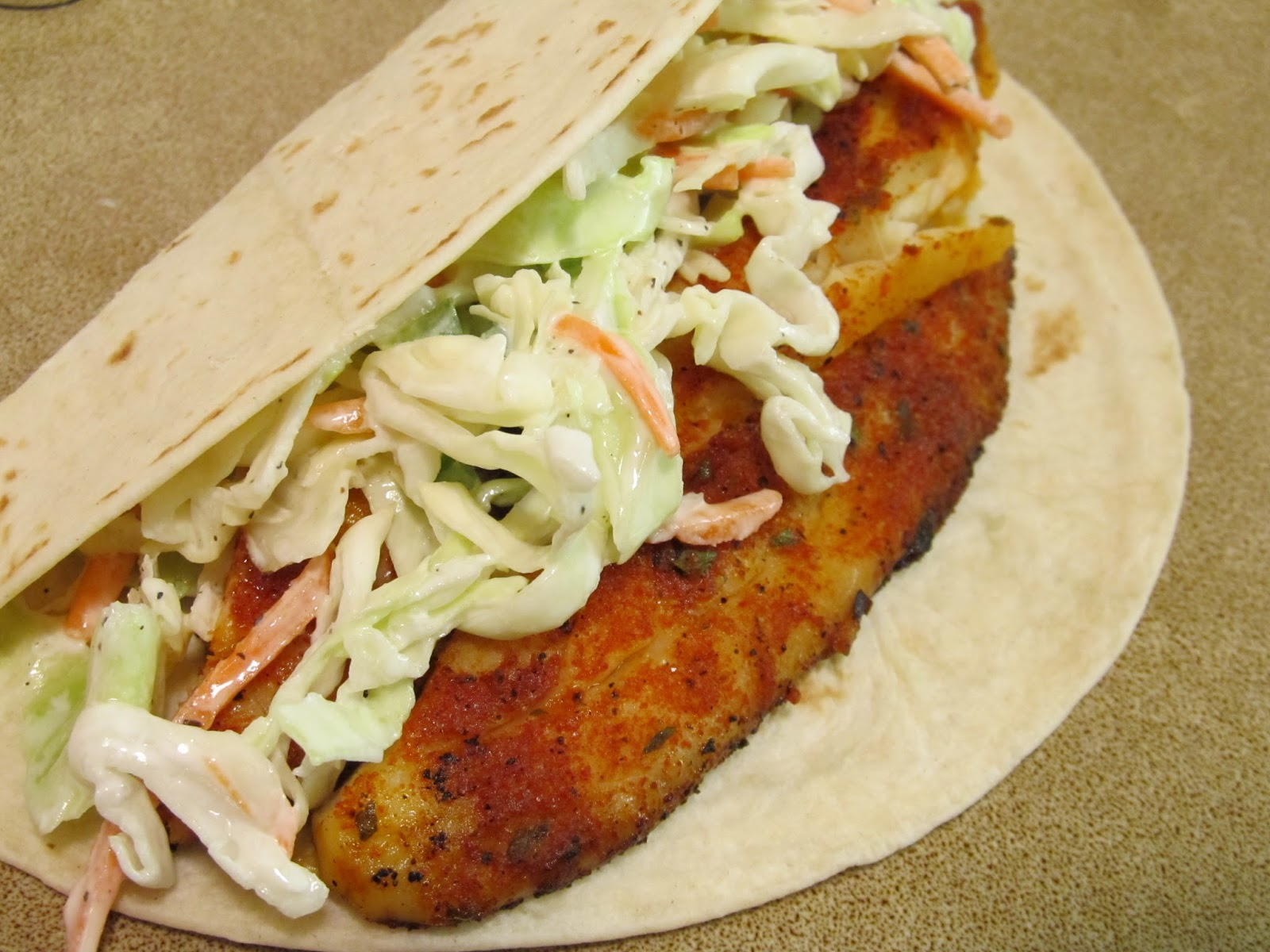 Jenn 39 s food journey spicy fish tacos with creamy jalapeno for Coleslaw for fish tacos