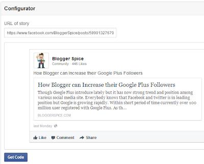 Facebook configurator