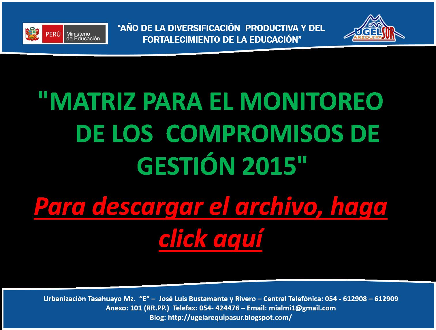 MATRIZ DE COMPROMISOS - 2015