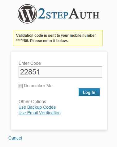 WordPress mobile code step