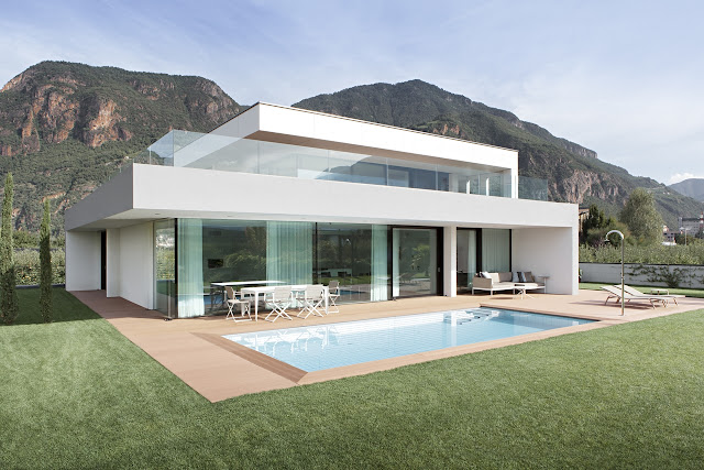 Modern home during the day