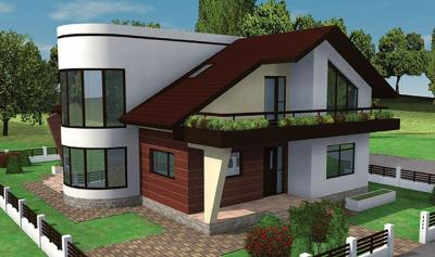 Modern american home exterior designs new home designs for American house plans designs