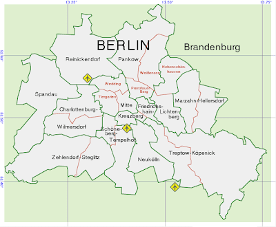 Map of Berlin and its Districts