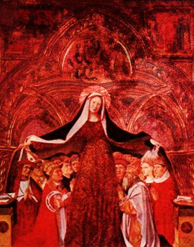 madre de dios cubre con su manto