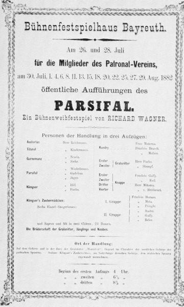 Etat de savoie richard wagner persifal savoie bayreuth for Depot bayreuth