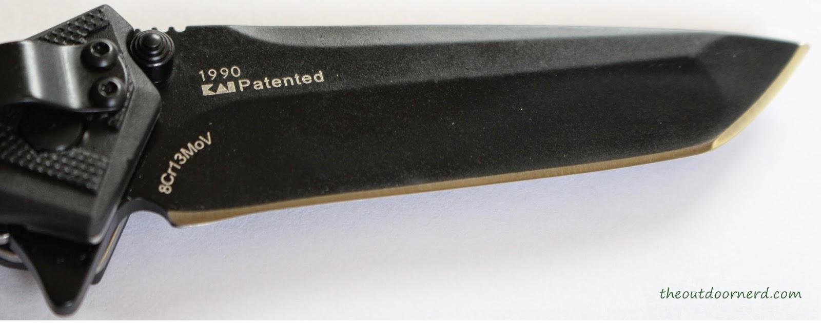 Kershaw Brawler Pocket Knife Close Up Of Blade 1