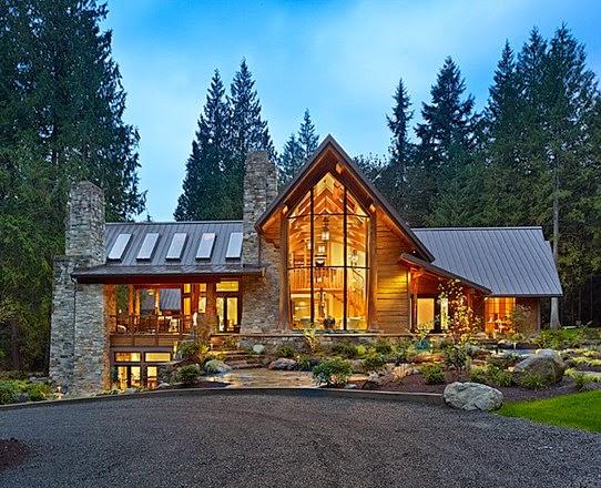 Fachadas de piedra fachadas de casas con piedra y madera - Casas piedra y madera ...