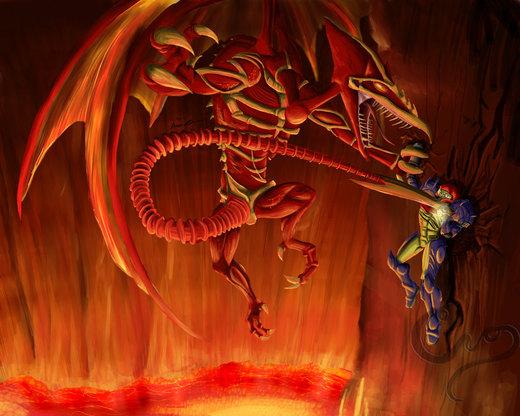 Metroid Bosses: Ridley por Cronoan