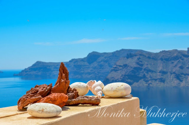 Oia in Santorini Greece by Monika Mukherjee