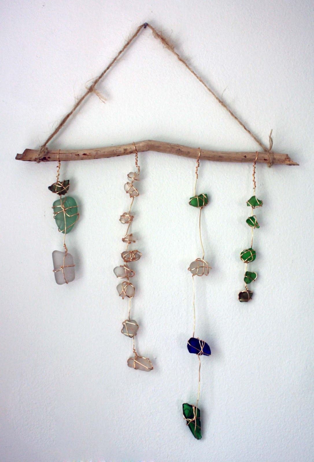Visibly moved sea glass wall hanging - Wall hanging ideas ...