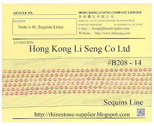 Sequins Lines Ribbon Supplier - Hong Kong Li Seng Co Ltd