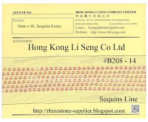 Sequins Lines Ribbon Supplier - Hong Kong Li Seng Co Ltd