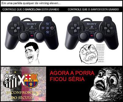Controle do Barça vs Controle do Santos