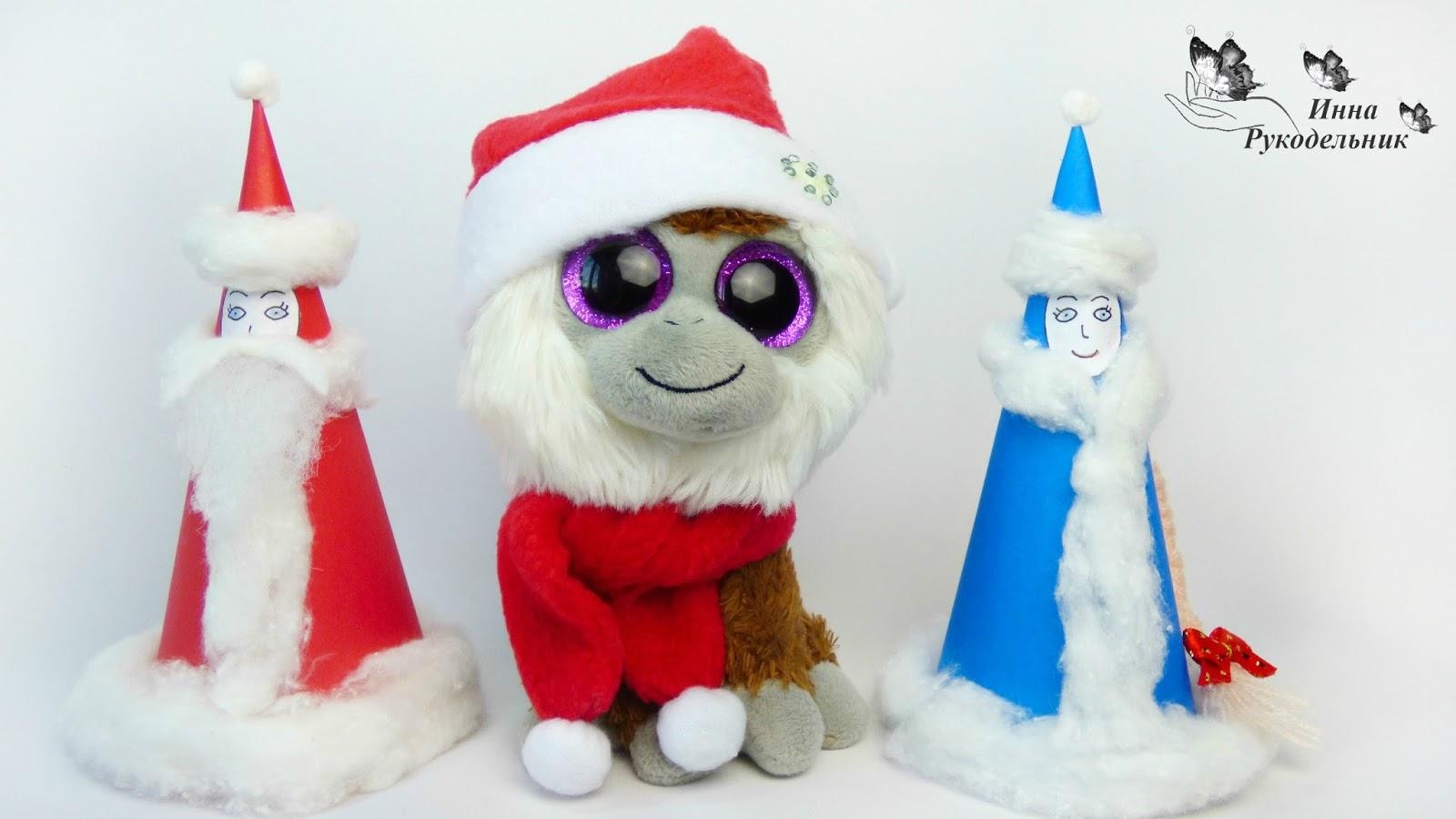 Дед мороз и снегурочка своими руками из бумаги