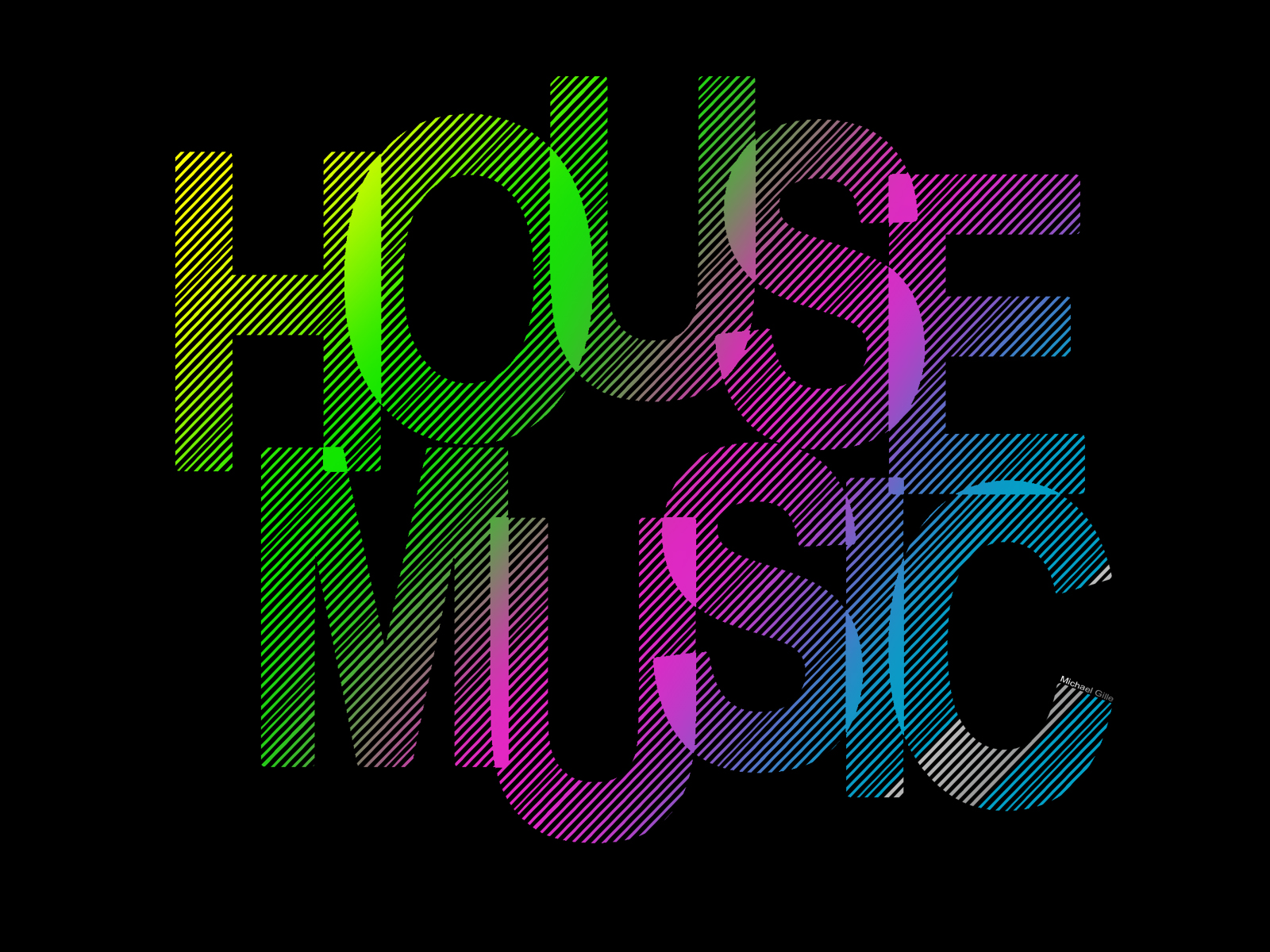 Shut up and enjoy the music for House music fashion