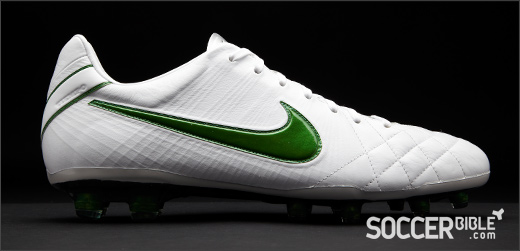wholesale dealer 7354e 21e4e The new Nike Tiempo IV Elite football boots sport a super-clean White/Green  upper, making this the first Tiempo boot to feature such a colour  combination.