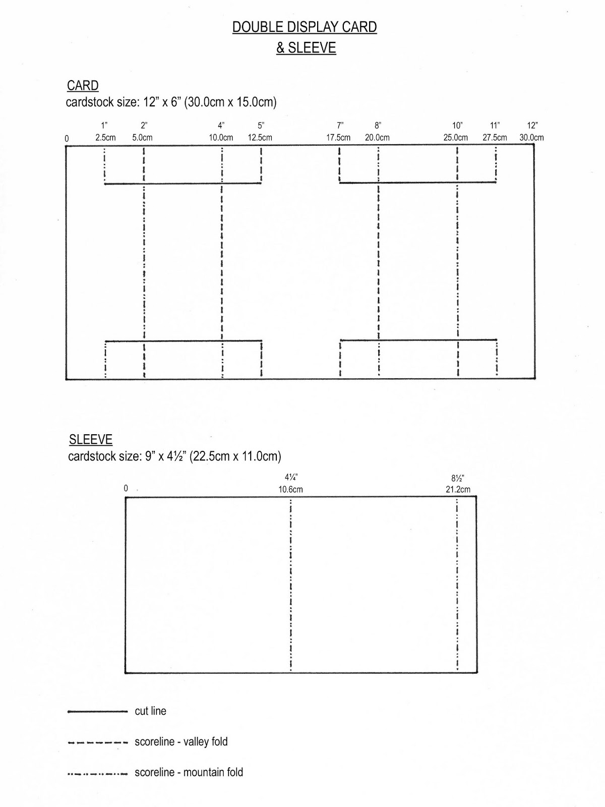 From My Craft Room: Template for Double Display Card