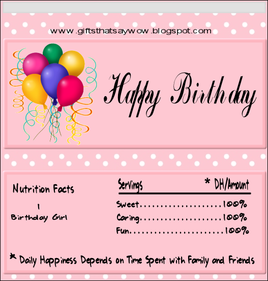 free candy bar wrapper template for word - gifts that say wow fun crafts and gift ideas free