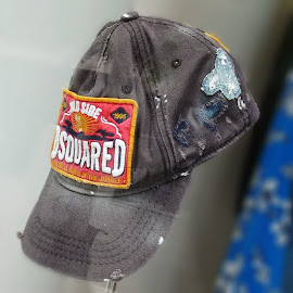 DSQUARED2 Distressed Brothers Baseball Cap