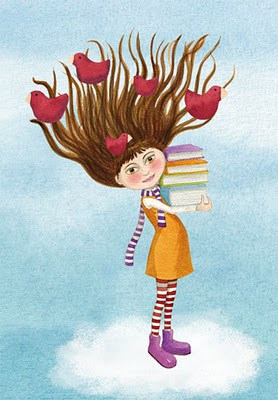 Bibliopeque- ilustración de  MONICA CARRETERO