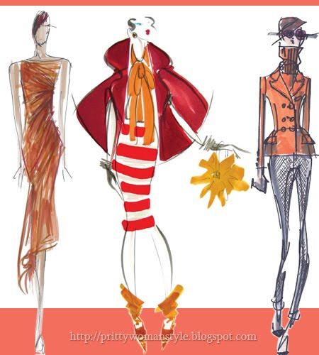 Дамска Мода Есен 2011 цвят огнено оранжево