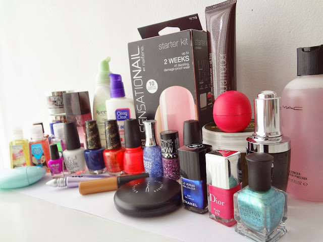GlamorousGia beauty buys with brands sensationail, dior, chanel, MAC, lancome, china glaze, OPI, Bath Body Works, EOS, urban decay, sally hansen and more.