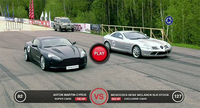 750HP Aston Martin vs 626HP Mercedes SLR McLaren
