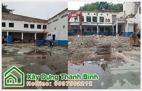 Phá dỡ công trình giá rẻ Thanh Bình