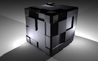 papel de parede cubo 3d