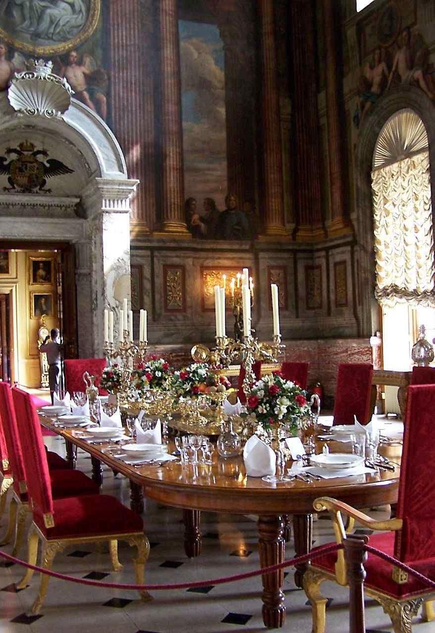 Sala de jantar de Blenheim Palace, Reino Unido