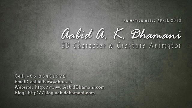 AAKD - Animation Reel 2013