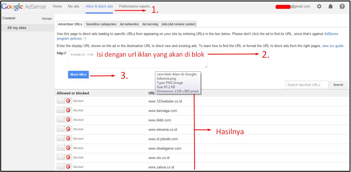 Cara Blok Iklan di Google Adsense