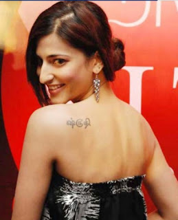 Tamil Actress Shruti Hassan Tattoo Design