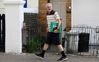 Corbyn in shorts
