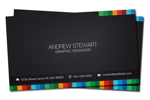 Dark Business Card Template PSD