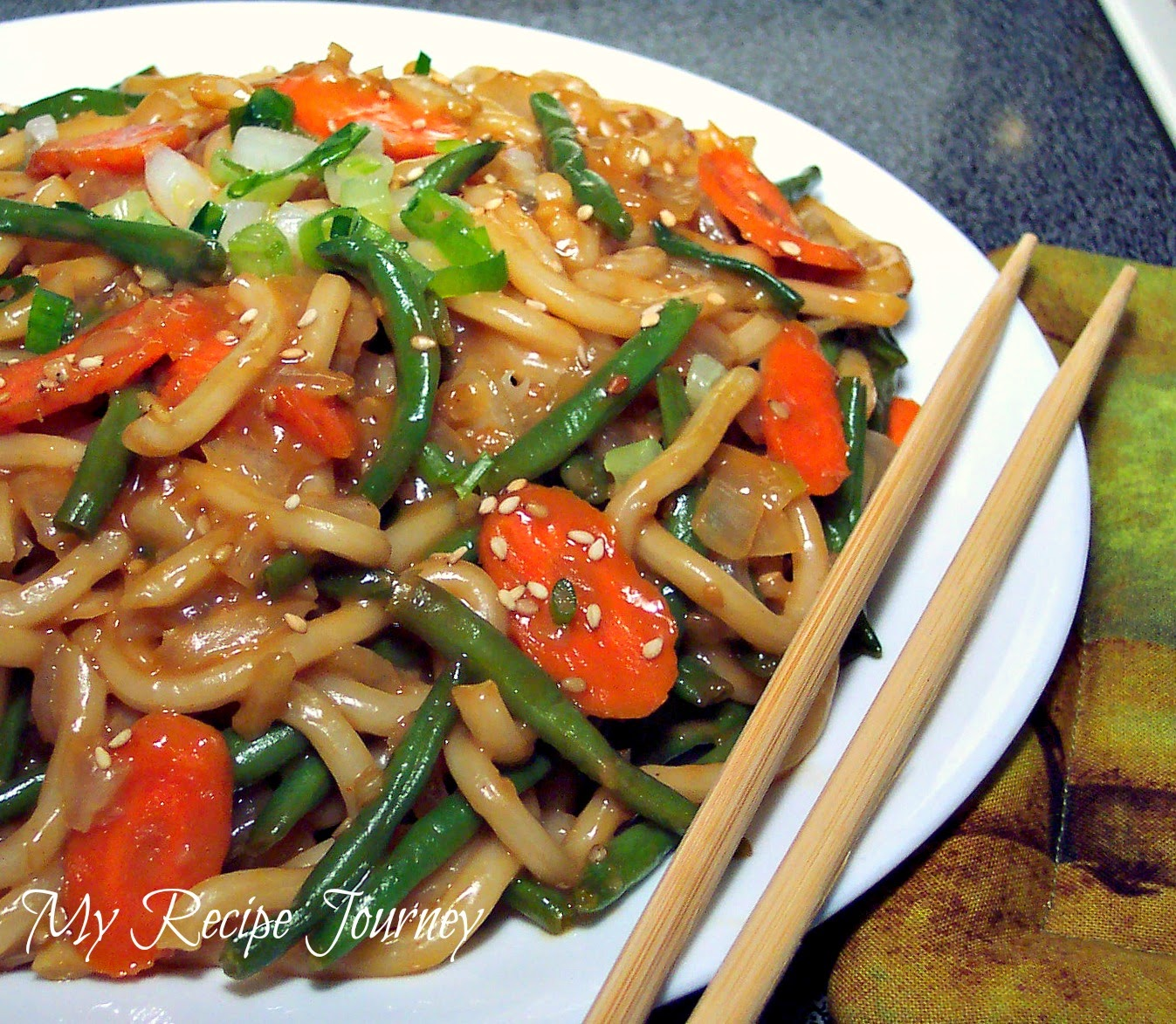 Thai Satay Udon Noodles!