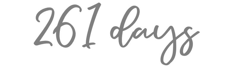 261 days