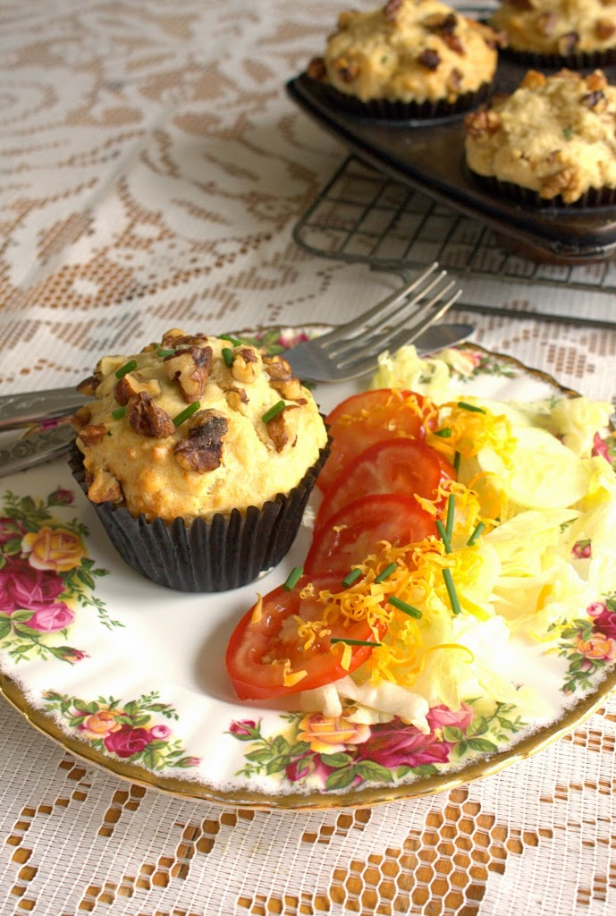 Cheddar, Ale and Chive Savoury Muffins